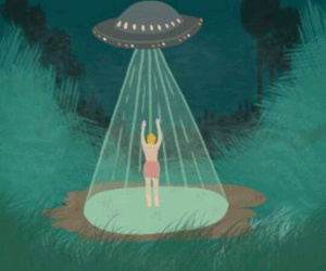 abduction, aesthetic, and alien image