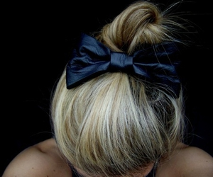 blonde, blue, and bun image