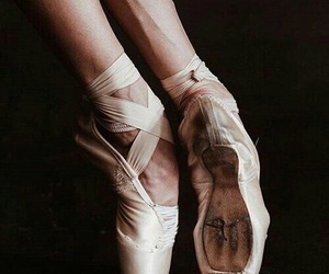ballet, feet, and pointes image