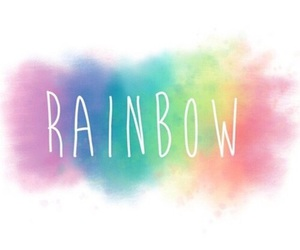 background, colorful, and rainbow image