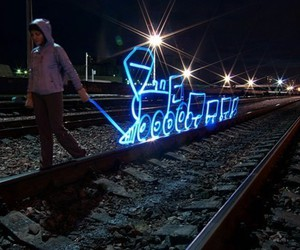 light, night, and trem image