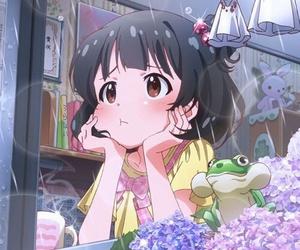 anime, kawaii, and rain image