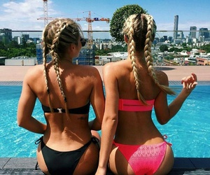 friends, braids, and hair image