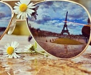 paris, flowers, and sunglasses image