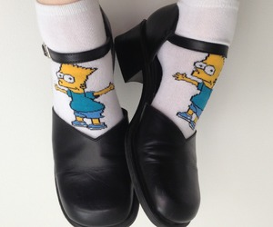 shoes, socks, and bart simpson image