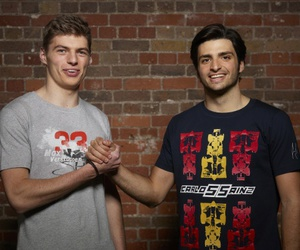 f1, carlos sainz jr, and max verstappen image