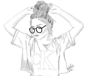 Calvin Klein, glasses, and Lazy image