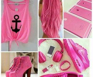 pink, shoes, and hair image
