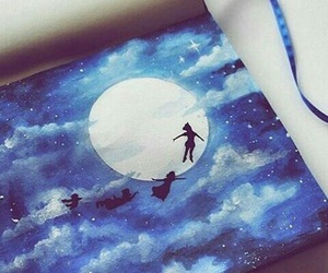 art, peter pan, and blue image