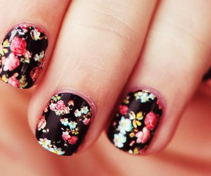 flowers, floral, and nails image