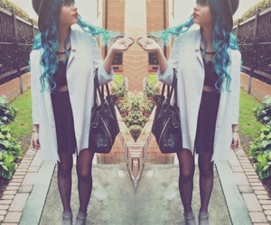 blue hair, long hair, and youtube image