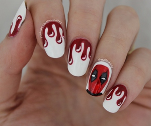beauty, nail art, and deadpool image