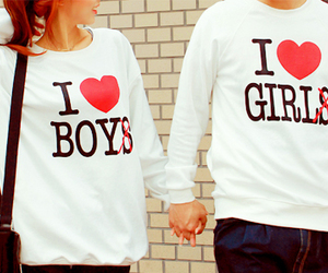 love, girl, and boy image