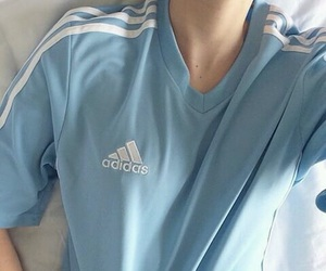 blue, adidas, and aesthetic image