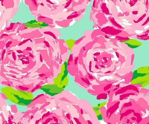 roses, lilly pulitzer, and cute image