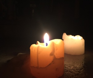 candles, yellow, and pyromania image