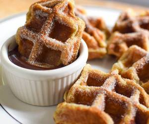 waffles, food, and chocolate image