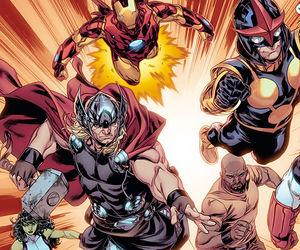Avengers, captain america, and comics image