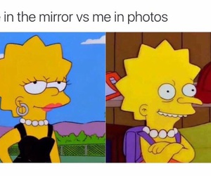 funny, mirror, and lisa image
