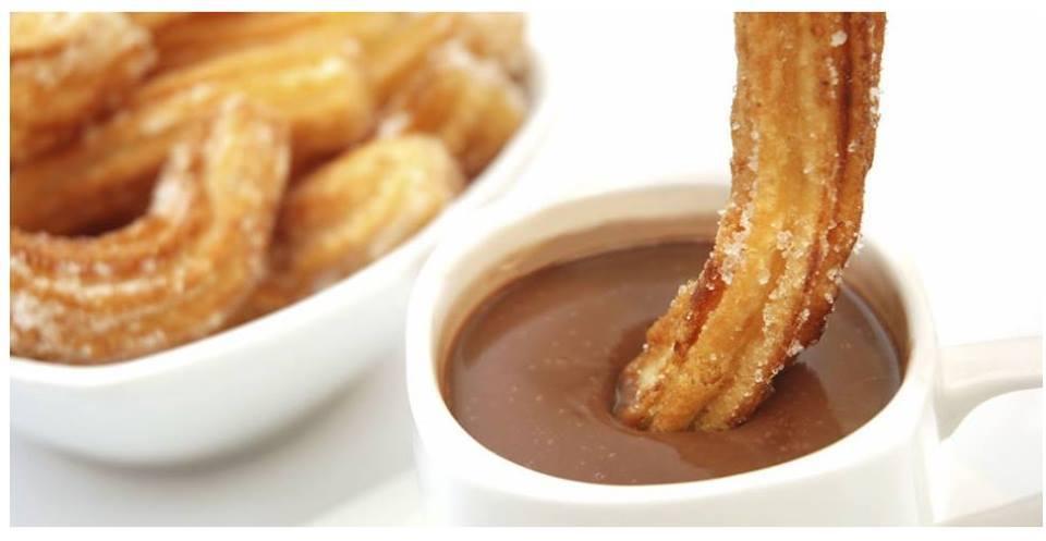 chocolate, churros, and sweet image