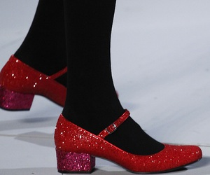 doll shoes, red, and runway image