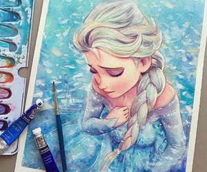 frozen, elsa, and art image