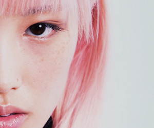 girl, model, and pink image