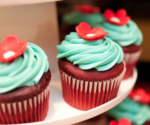 cute, cupcake, and food image