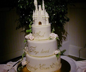 wedding, love, and cake image