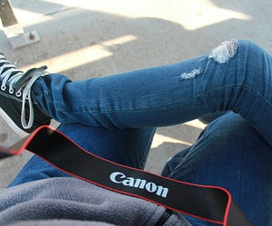 canon, converse, and photography image