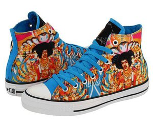 converse, Jimi Hendrix, and shoes image