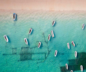 boat, beach, and travel image