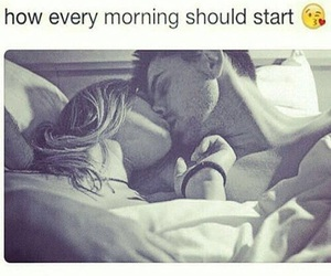 love, couple, and morning image