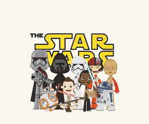 cartoon, star wars, and the force awakens image