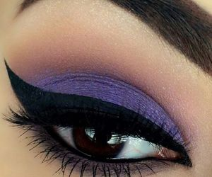 makeup, purple, and eye image