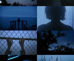black, grunge, and blue image