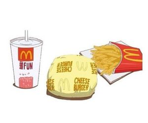 food, McDonalds, and overlay image