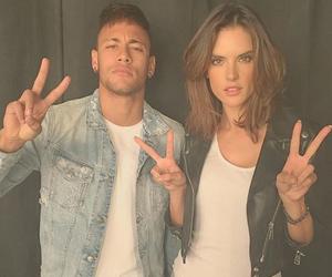 alessandra ambrosio, neymar, and neymar jr image