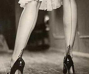 stockings and vintage image