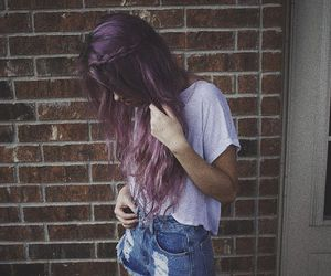 aesthetic, pastel hair, and dyed hair image