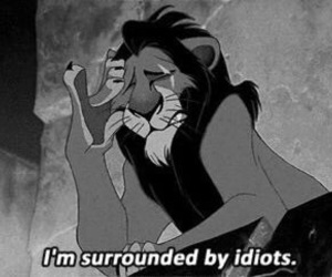 idiot, disney, and scar image
