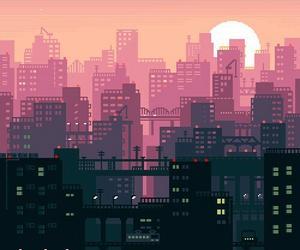city and gif image