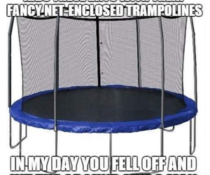 funny and trampoline image