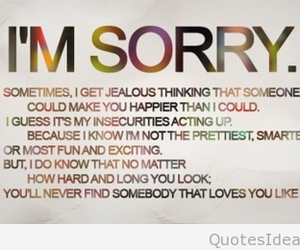 love, sorry, and quotes image