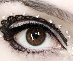 lace, makeup, and eye image
