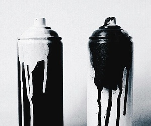 black and white and bottles image
