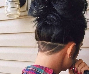 hair, hairstyle, and undercut image