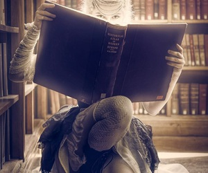 book, fantasy, and library image