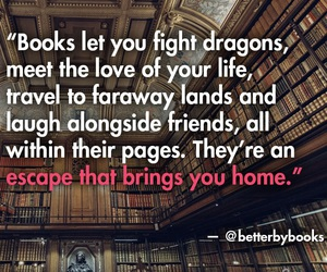 books, escape, and friend image
