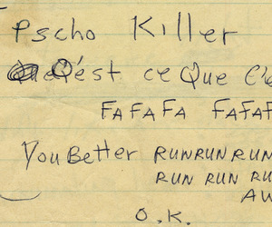 talking heads and psycho killer image